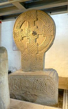 The largest of the Margam Stones - a huge stone wheel, shaft and pedestal. 'Conbelin erected this cross for the soul of Ric.', and 'Sodna made this cross'. It is now in the Margam Stones Museum. Housed in Wales (UK). Irish Celtic, Celtic Art, Celtic Crosses, Celtic Symbols, Alexandre Le Grand, Culture Art, Celtic Culture, Celtic Mythology, Knights Templar