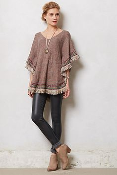 Inspiration - I can make this for next to nothing..... Parana Poncho - anthropologie.com ($248.00) - Svpply