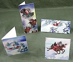 Folded Tags from Christmas Cards
