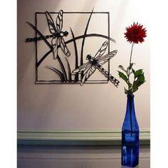Amazon.com: Dragonflies Steel Wall Sculpture: Home & Kitchen