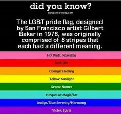 The LGBT Pride Flag - Re-pinned by Woolton & Hewitt, specialist LGBTQI+ wedding ring jeweller