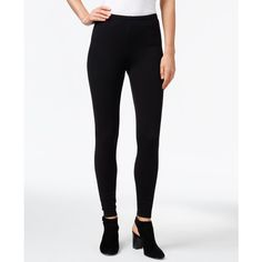 Eileen Fisher Ankle Leggings ($98) ❤ liked on Polyvore featuring pants, leggings, black, ankle length leggings, eileen fisher leggings, skinny trousers, skinny leggings and skinny leg pants