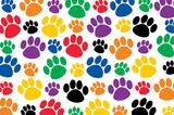 """Checkout the """"Colorful Paw Prints Postcards"""" product"""