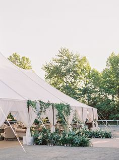 The wedding reception was help under a big white tent and was filled with flowers and greens. The receptions looked amazing and very natural and romantic. Space Wedding, Tent Wedding, Wedding Reception, Reception Ideas, Wedding Bells, Wedding Flowers, Dream Wedding, Unique Wedding Venues, Wedding Ideas
