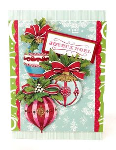 Beautiful Christmas card by Anna Griffin Chameleon markers #affiliate #Christmascard #crafting #markers