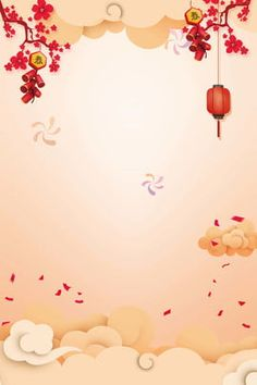 Spring Festival New Year Year Of The Pig Cartoon lantern,xiangyun,flower branch. Spring Festival N Neon Background, New Background Images, Festival Background, Wedding Background, Chinese New Year Poster, Chinese New Year Greeting, New Years Poster, Happy Chinese New Year, Chinese New Year Background