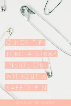 Turn a fabric strap