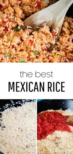 EASY One-Pot Mexican Rice (Spanish Rice) – I Heart Naptime This easy Mexican rice is made in just one pot in 45 minutes! Full of flavor and so easy to customize. The perfect side dish for all your favorite Mexican recipes. Mexican Rice Recipes, Rice Recipes For Dinner, Milk Recipes, Mexican Dishes, Cooking Recipes, Healthy Recipes, Easy Mexican Rice, Mexican Desserts, Easy Cooking