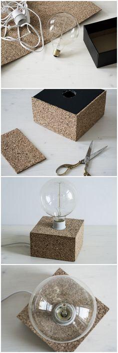 DIY Cork Light || Selbstgemachte Lampe aus Kork