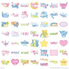 Cricut® Baby Steps Cartridge - phrases