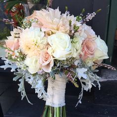 Blush Bouquet with Dahlias and Roses