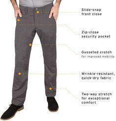 Best Travel Pants Gray Men S Wrinkle Resistant Betabrand