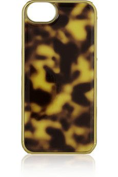 J.Crew Tortoiseshell PVC iPhone 5 case   NET-A-PORTER