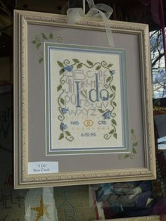 """I Do"" wedding cross stitch Bent Creek"