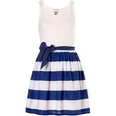 Tommy Hilfiger Femi sleeveless dress (3.500 RUB) ❤ liked on Polyvore featuring dresses, vestidos, robes, short dresses, white, women, floral skater dress, white dress, sleeveless dress and white mini dress