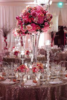 "Wedding Centrepiece 28"" Clarinet Reversible Vase V4478"