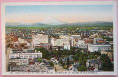 Portland, Oregon, Vintage Postcard, Mt. St. Helens, #Skyline Early 1900s