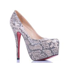 cheap Christian Louboutin Grey Lace Platform Pumps.Please click picture to buy and get more detail.