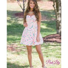 We are in LOVE with this Garden Daydreams dress! Where would you wear it this Spring? #thepinklilyboutique #picoftheday #ootd #Outfitoftheday #wiw #whatiwore #boutique #fashiongram #fashionista #trendy