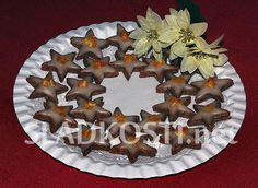 Ořechové hvězdičky s likérovou polevou