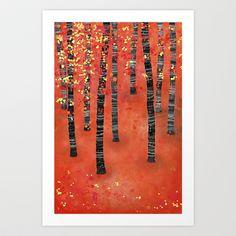Birches Art Print by Squirrell - $19.00