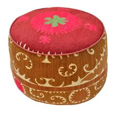 Antique Suzani Pouf I now featured on Fab.