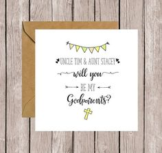 Personalised Will You Be My Godparents? Card