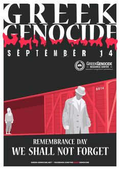 Between the Ottoman Empire (today Turkey) under two successive regimes, carried out a systematic and violent campaign of extermination against its native Greek minority. Remembrance Day, Infographics, September, Greek, Education, Quotes, Quotations, Infographic, Anniversaries