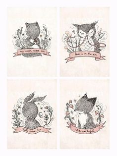 Woodland critters - Whimsy Whimsical