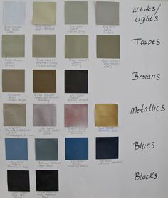 20 Favorite Spray Paint Colors rated - Rustoleum is the best white, Walmart black spray paint matte finish ranked the best black one.  She rates metallics too.