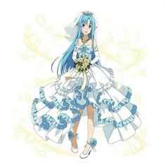 Asuna (ALO) ~ bride ~ Arte Online, Online Art, Anime Wedding, Wedding Girl, Sword Art Online Asuna, Accel World, Kirito Asuna, Anime Dress, Anime Manga
