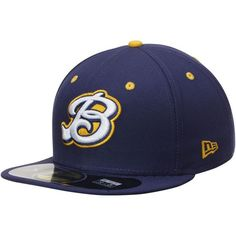 16d05e378b9 Burlington Bees New Era Alternate 2 Authentic 59FIFTY Fitted Hat - Navy -   29.99