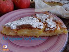 Torta di mele con ricotta e limone -senza uova e burro -