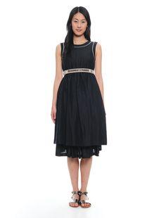 Abito in cotone effetto chambray 173 Chambray, Black, Dresses, Fashion, Italian Fashion, Vestidos, Moda, Black People, Fashion Styles