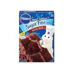 Pillsbury Moist Supreme Sugar Free Devil's Food Cake Mix (Pack of 2): http://amzn.to/10gk0L1: Grocery & Gourmet Food