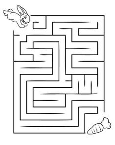 Printable Mazes for Kids. - Best Coloring Pages For Kids Kids Activity Center, Activity Sheets For Kids, Kindergarten Worksheets, Worksheets For Kids, Color Activities, Preschool Activities, Mazes For Kids Printable, Printable Coloring, Free Printable