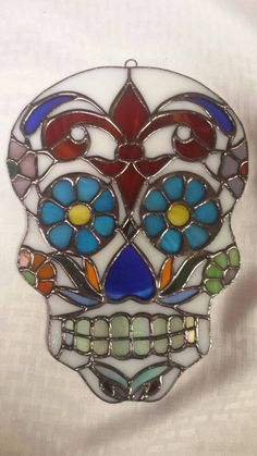 Stained Glass Sugar Skull by segovia on Etsy