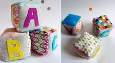 fabriquer des cubes en tissu bébé http://www.grandiravecnathan.com/couture/les-cubes-a-grelot-en-tissu.html