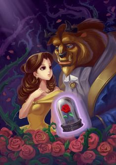 Resultado de imagen para beauty and the beast fan art anime