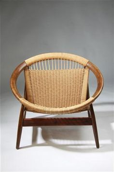 "Armchair ""the Ring Chair"" number 23 by Illum Wikkelsö for Niels Eilersen,Denmark. 1950's."