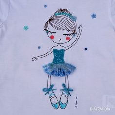 Ideas for applications on clothes Embroidery Applique, Cross Stitch Embroidery, Machine Embroidery, Fabric Dolls, Fabric Art, Applique Designs, Embroidery Designs, Retro Girls, Needlepoint