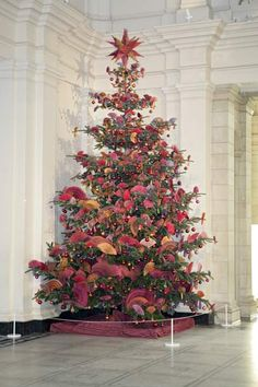 Christmas Tree installation by Kaffe Fassett