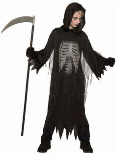 Gloriously charming Night Reaper Costume. Cool array of Spooky & Horror Costumes for Halloween at PartyBell. Reaper Costume, Horror Costume, Pajama Romper, Unisex Baby Clothes, Trendy Plus Size, Costume Accessories, Halloween Costumes, Funny Halloween, Spooky Halloween