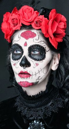 Day of the Dead with silver hair looks very cool!