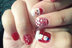Nail art Christmas - great ideas for your festive nails - Nail Designs Snowflake Nail Design, Christmas Nail Designs, Christmas Nail Art, Holiday Nails, Merry Christmas, Cute Nail Art, Easy Nail Art, Cute Nails, Nail Art Designs