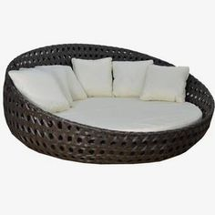 Shop the Round Patio Daybed with Sunbrella Cushions at Perigold, home to the design world's best furnishings for every style and space. Plus, enjoy free delivery on most items. Poolside Furniture, Used Outdoor Furniture, Rustic Furniture, Home Furniture, Antique Furniture, Modern Furniture, Industrial Furniture, Bedroom Furniture, Furniture Layout