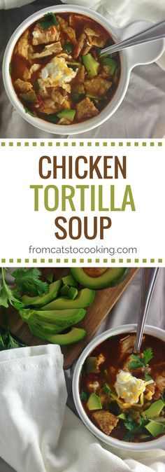 This Mexican Chicken Tortilla Soup Recipe is gluten free, paleo and low carb. It's perfect for dinner and makes great leftovers for lunch!