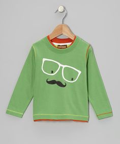 Take a look at this Green Mustache Glasses Tee - Infant, Toddler & Boys on zulily today!