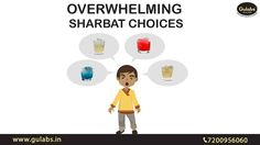 Overwhelming choices of Sharbats at #Gulabs to fight the Summers..