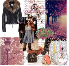 """""""Fur Trimed Collar Leather Jacket Code: 20140158 - Women's Leather Jackets - Women's Clothing at Clothing.net"""" by zxueying on Polyvore"""